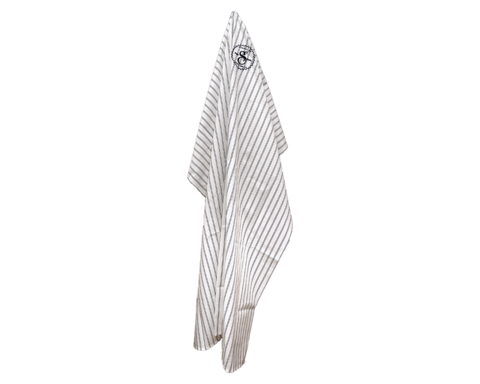 Suavecito Premium Blends Barber Cape & Clip - Black Stripes