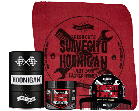 suavecito x HOONIGAN  pomade Firm HOLD OIL BARREL SET